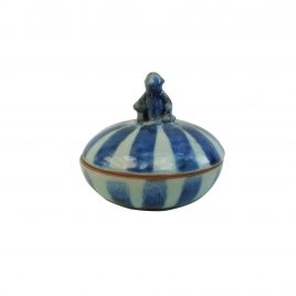 Monkey Stripe Ceramic Jewelry Box (L)