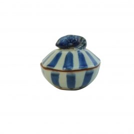 Fish Stripe Decagon Ceramic Jewelry Box