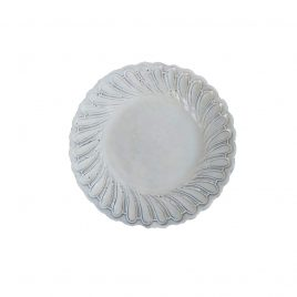 Italian White Ceramic Salad Plate