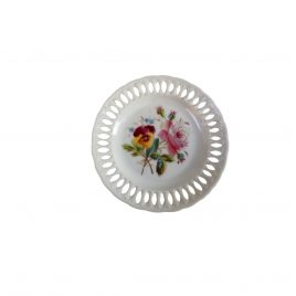 Collector wall plates pink flower