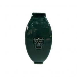 Emeral Green Ceramic Vase w/ Lion head (Vintage Collection)