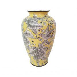 Yellow Rose Ceramic vase