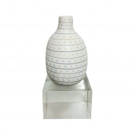Ceramic dotty stripe blue w/ Crystal Base