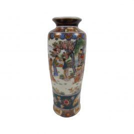 Vintage Ceramic Oriental Satsuma Style Vases