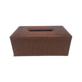 Leather Tissue Box (Cinnemon)