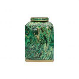 Urn with Malachite Motif (L)